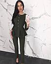 Брючный женский костюм с баской 17ks942, фото 5
