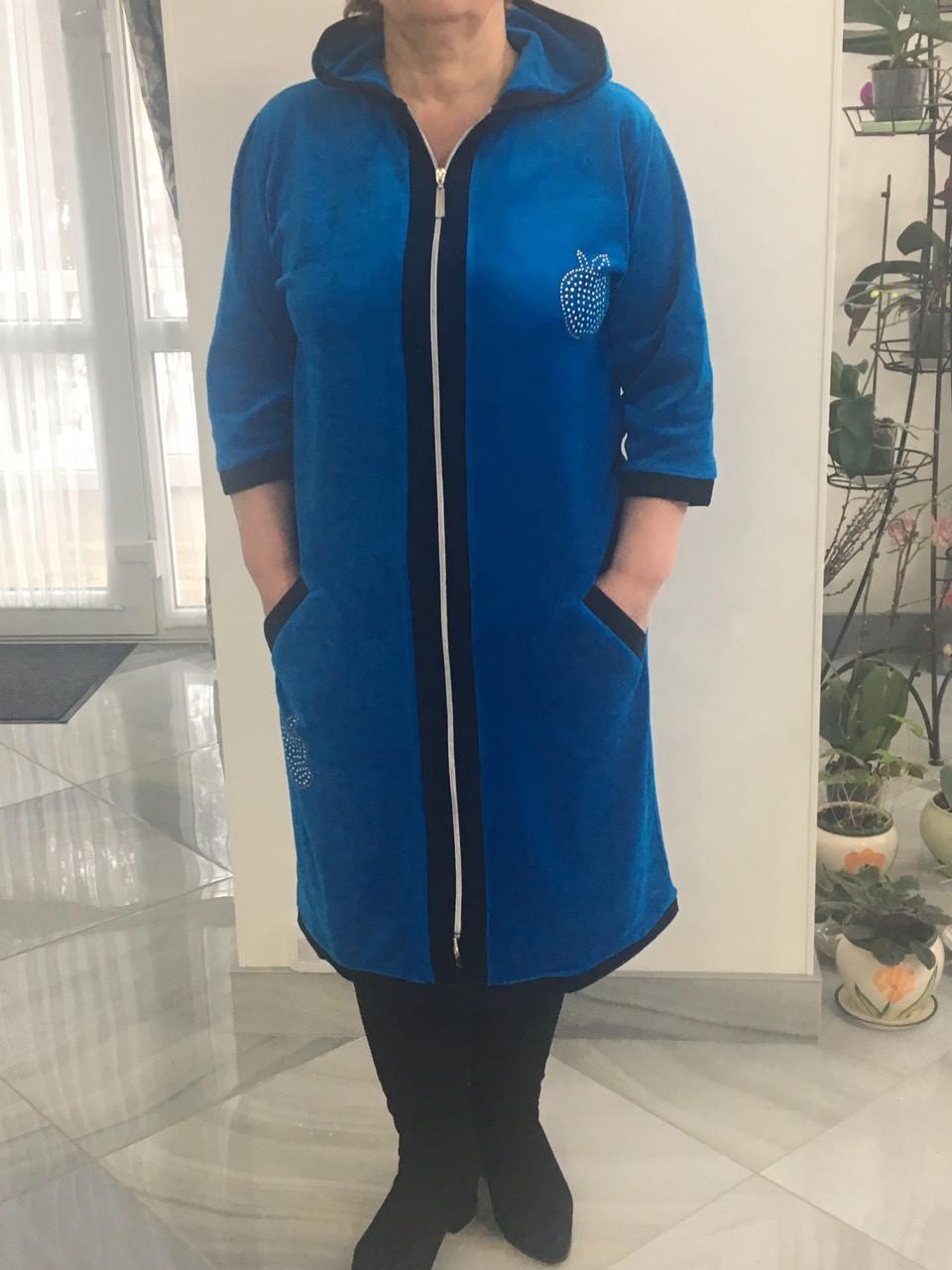 Стильний халат велюровий
