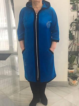 Стильний халат велюровий, фото 2