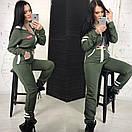 Женский теплый комбез с начесом милитари 58ks946, фото 5