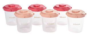 Контейнеры для хранения Beaba Clip  6 шт (200 мл) - розовый, арт. 912597