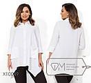 Женская свободная блуза в больших размерах 1ba1354, фото 2