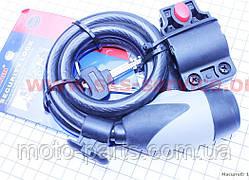 Трос противоугонный под ключ L=1м Ø12мм + крепление TY545