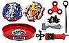 Набор Beyblade арена + Vise Leopard + Z Achilles A4 B-105 + Спиннер+Лед часики