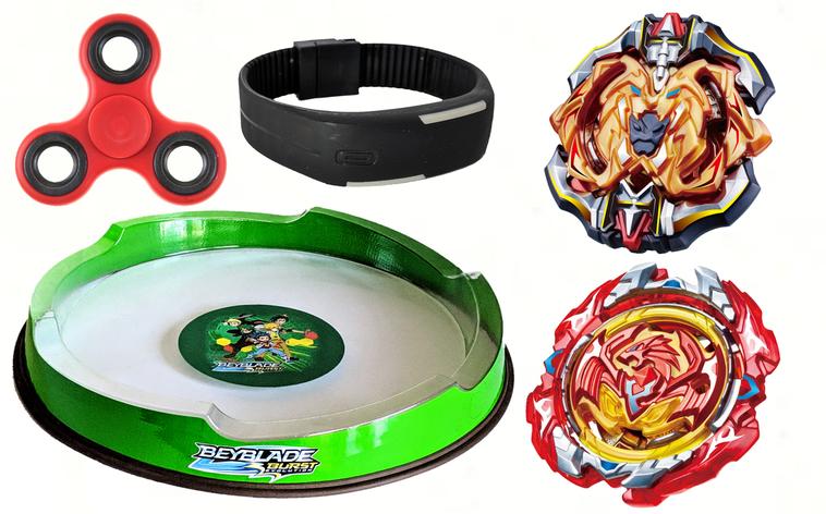 Набор Beyblade арена + Archer Hercules + Revive Phoenix + Спиннер+Лед часики, фото 2