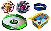 Набор Beyblade Арена + Бокс + Z Achilles A4 B-105 + Salamander + Спиннер + Лед часики