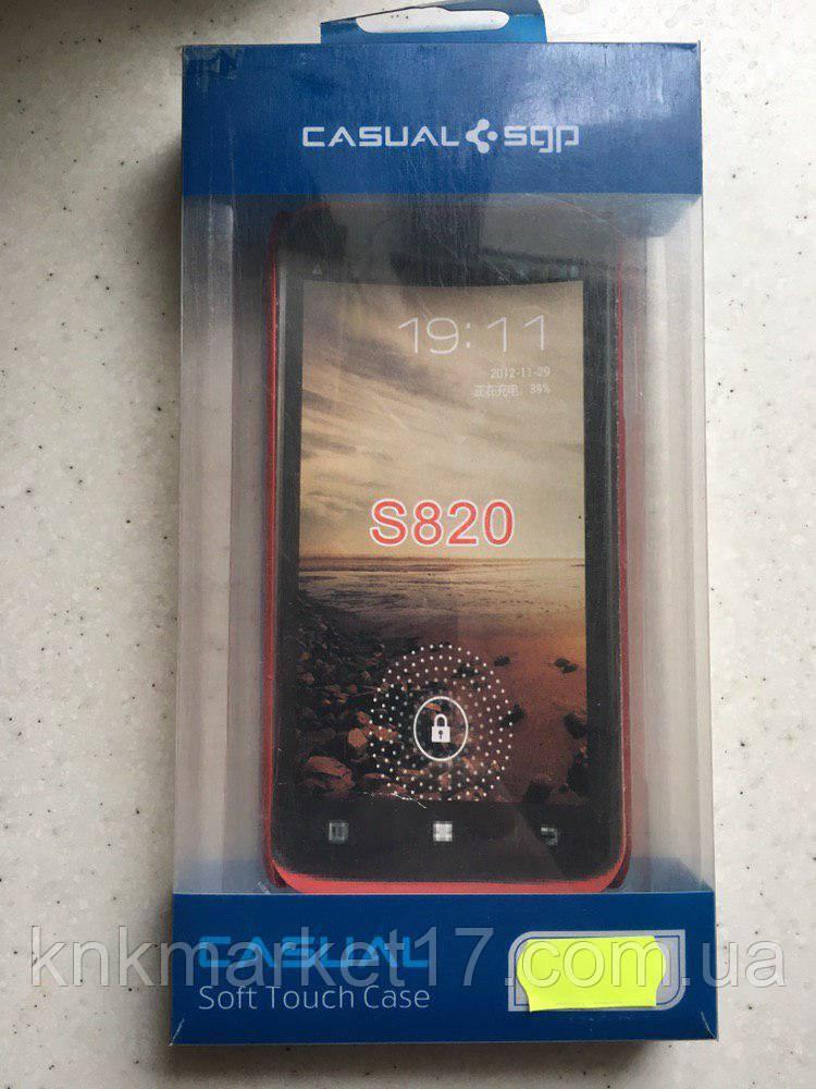 Пластикова накладка Soft-Touch для Lenovo S820 Червона
