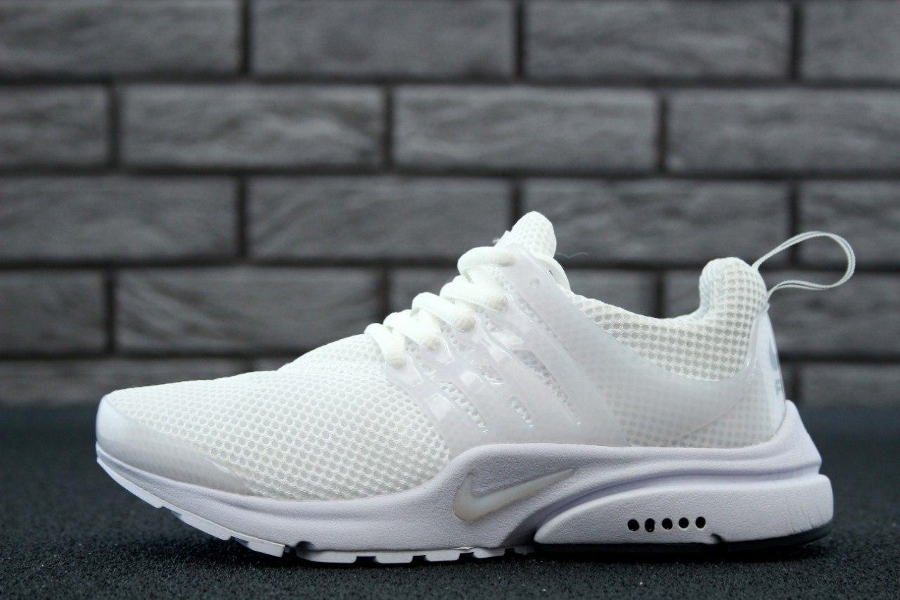 093b54825dd167 Женские кроссовки Nike Air Presto White (в стиле Найк Аир Престо) белые,  сетка