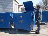 Евроконтейнер для мусора  -1.1 м.куб