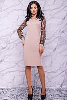 Вечернее демисезонное платье цвета кофе 3033
