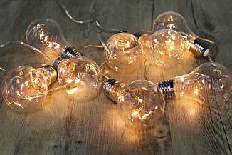 Гирлянды декоративные Cotton Balls 10led, диам 6см, длина 180см на батарейках АА #16, фото 2