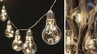 Гирлянды декоративные Cotton Balls 10led, диам 6см, длина 180см на батарейках АА #16, фото 3