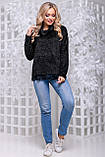 Женственная кофта-свитер из ангоры-травка черного цвета 2838, фото 2