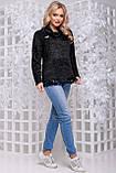 Женственная кофта-свитер из ангоры-травка черного цвета 2838, фото 3