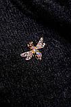 Женственная кофта-свитер из ангоры-травка черного цвета 2838, фото 4