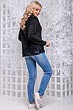 Женственная кофта-свитер из ангоры-травка черного цвета 2838, фото 5