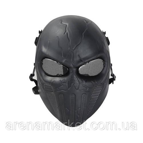 Страйкбольная маска Punisher - черный