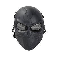 Страйкбольная маска Punisher - черный, фото 1