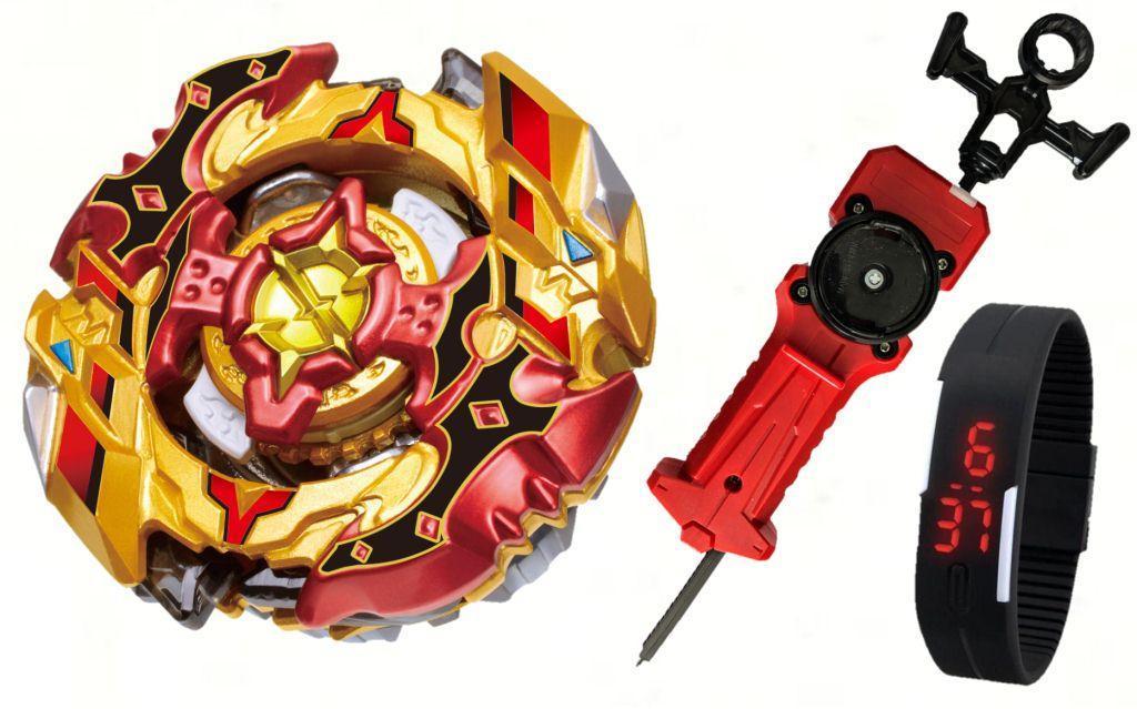 Cho-Z Spriggan 0Wall Zeta' (Бейблейд Спрайзен С5) с пусковым устройством Меч + Led Часики