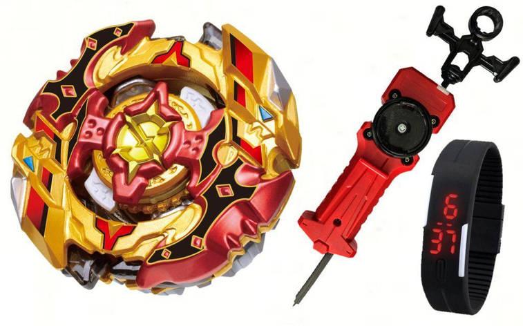 Cho-Z Spriggan 0Wall Zeta' (Бейблейд Спрайзен С5) с пусковым устройством Меч + Led Часики, фото 2