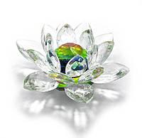 Сувенир Лотос хрустальный белый