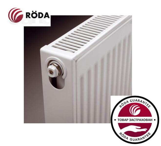 Стальной Радиатор отопления (батарея) 500x1600 тип 22 Roda (боковое подключение)