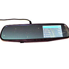 Автомобильный видеорегистратор зеркало с камерой заднего вида DVR 138W, фото 2