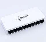 Коммутатор сетевой  8 портов, Ethernet 10/100Mb с БП, фото 4