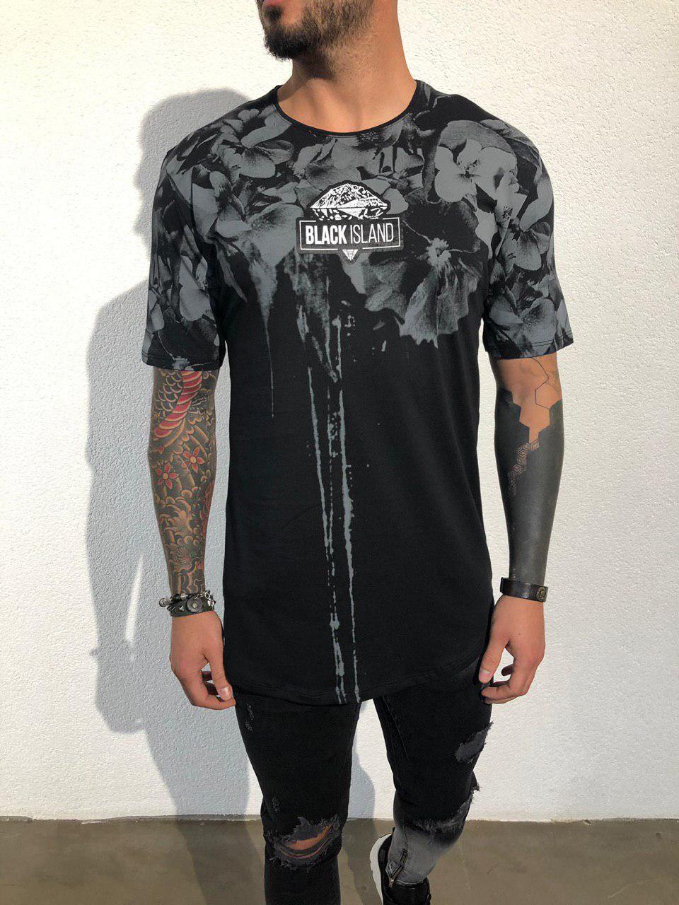 3551fa63d574 Мужская футболка Black Island ADA1942 черная - Компания