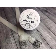 """Гель-паутинка для дизайна ногтей """"Spider gel"""" (белая)"""