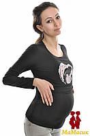 Лонгcлив с принтом 2 в 1 беременность и кормление
