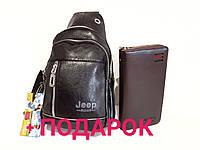 Мужская сумка через плече crossbody Jeep buluo (155-2 ) черный кроссбоди, фото 1