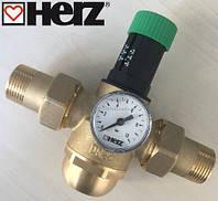 """Редуктор давления  HERZ для холодной воды(1,0-6,0 бар,)  3/4"""" DN 20мм. Температура 0-40 С., фото 1"""
