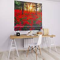Римская штора с фотопечатью Цветочная поляна