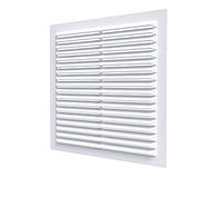 Решетка вентиляционная вытяжная АБС 150х150, белая