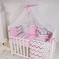 Балдахин Baby Design белый с розовым, фото 1