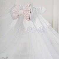 Балдахин Mi-mi белый с розовым, фото 1