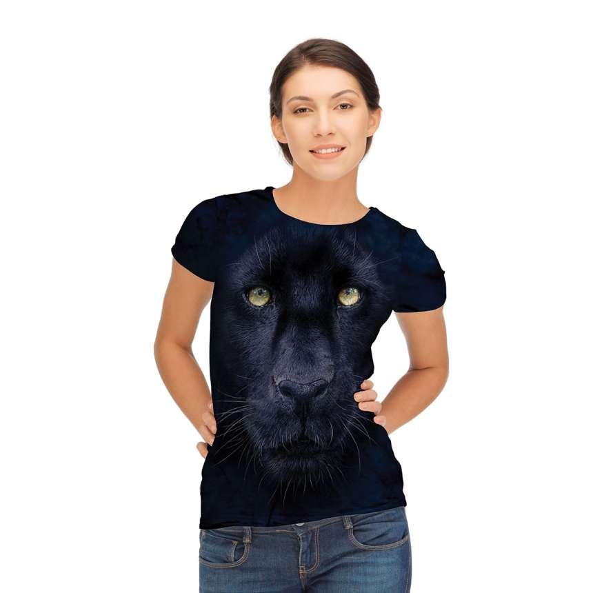 3D футболка для девочки The Mountain размер L 10-12 лет футболки детские с 3д рисунком Взгляд Пантеры