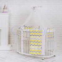 Baby Design Серо-желтые зигзаги, фото 1