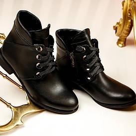 Женские весенние ботинки на каблуке, модель 19200.1