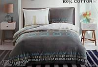 Сатиновое постельное белье евро ELWAY 5004