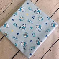 Пеленка фланелевая Мишки голубые, фото 1