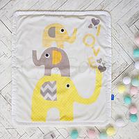 Плед-конверт Арт дизайн Слоники желтые, фото 1