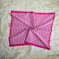 Плед Зигзаг розовый, фото 1