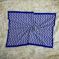 Плед Зигзаг синий, фото 1