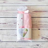 Набор пеленок Сердечки розовые, фото 1