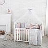 Комплект Baby Design Премиум Зайчики пудра