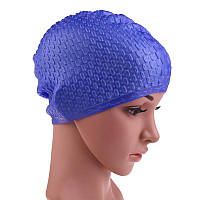 Силиконовая шапочка для плавания на длинные волосы 2000-03835