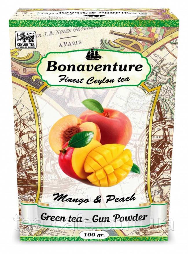 """Зеленый чай """"Mango & Peach"""" (Манго и Персик) - Bonaventure 100 г."""