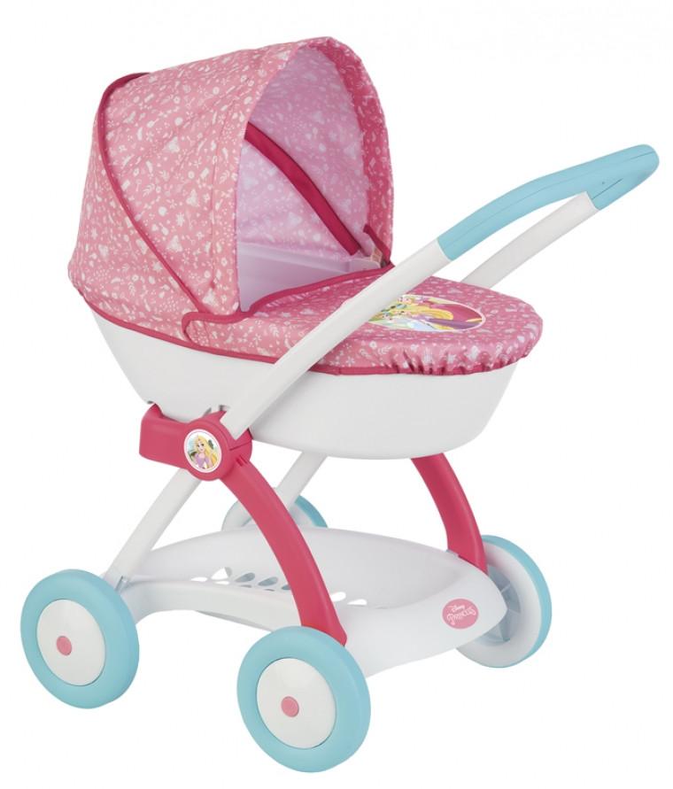 Коляска Smoby Toys Дисней Принцессы с люлькой и корзиной (254102)